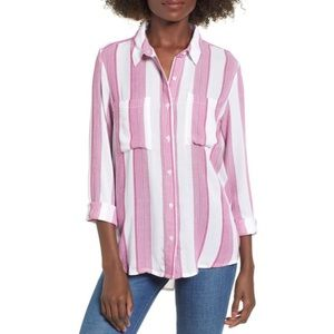 NWT BP. The Perfect Shirt in Pink Stripe